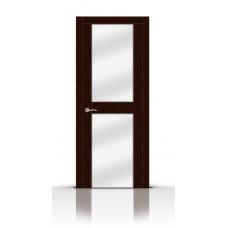 Дверь СитиДорс модель Турин-3 цвет Ясень шоколад зеркало