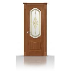 Дверь СитиДорс модель Гиацинт цвет Американский орех стекло Амелия
