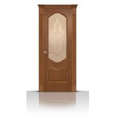 Дверь СитиДорс модель Гиацинт цвет Американский орех стекло Кружево