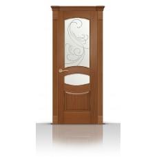 Дверь СитиДорс модель Гелиодор цвет Американский орех стекло Метелица