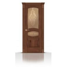 Дверь СитиДорс модель Гелиодор цвет Дуб миндаль стекло Кружево