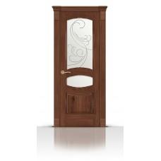 Дверь СитиДорс модель Гелиодор цвет Дуб миндаль стекло Метелица