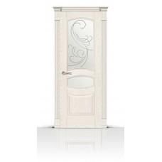 Дверь СитиДорс модель Гелиодор цвет Ясень белый стекло Метелица