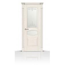 Дверь СитиДорс модель Гелиодор цвет Ясень белый стекло Романтик