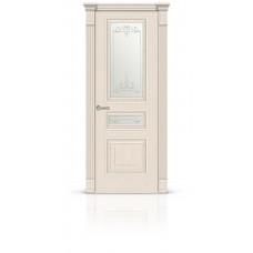 Дверь СитиДорс модель Элеганс-2 цвет Ясень крем стекло Романтик