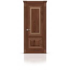 Дверь СитиДорс модель Элеганс-4 цвет Дуб миндаль триплекс бронза