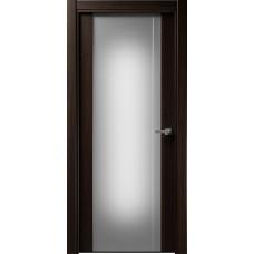 Дверь Status Futura модель 331 Орех стекло калёное с гравировкой
