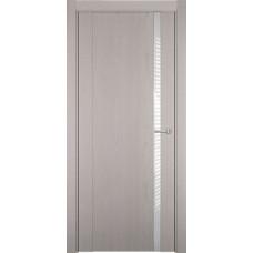 Дверь Status Futura модель 321 Дуб белый стекло лакобель белый