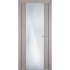 Дверь Status Futura модель 331 Дуб белый стекло калёное с гравировкой