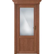 Дверь Status Classic модель 521 Анегри стекло Сатинато белое