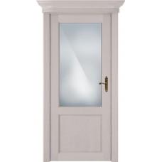 Дверь Status Classic модель 521 Дуб белый стекло Сатинато белое