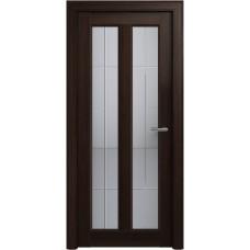 Дверь Status Fusion модель 612 Орех стекло калёное с гравировкой