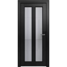 Дверь Status Fusion модель 612 Дуб чёрный стекло калёное с гравировкой