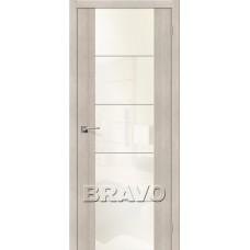 Дверь Экошпон V4 Cappuccino Veralinga