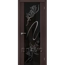 Дверь Экошпон S-13 Stamp Wenge Veralinga