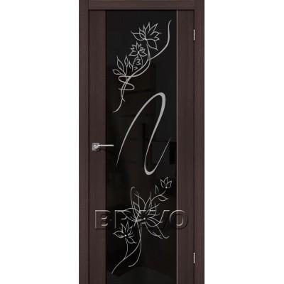 Межкомнатная Дверь Экошпон S-13 Stamp Wenge Veralinga
