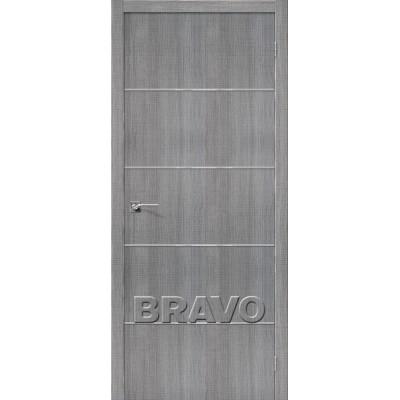 Межкомнатная Дверь Экошпон Порта-50 A6 Grey Crosscut