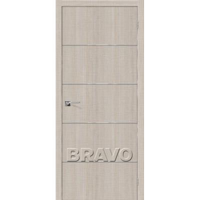 Межкомнатная Дверь Экошпон Порта-50 A6 Cappuccino Crosscut