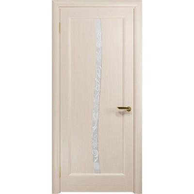 Межкомнатная Дверь DioDoor Миланика-3 беленый дуб белое пескоструйное Миланика