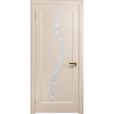 Межкомнатная Дверь DioDoor Миланика-4 беленый дуб белое пескоструйное Миланика