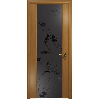 Межкомнатная Дверь DioDoor Винтаж-2 анегри черный триплекс Вьюнок матовый