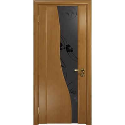 Межкомнатная Дверь DioDoor Торелло анегри черный триплекс Вьюнок матовый