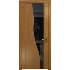 Дверь DioDoor Торелло анегри черный триплекс Вьюнок глянцевый