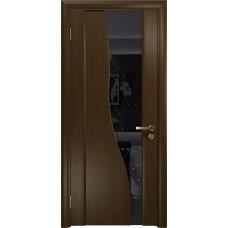 Дверь DioDoor Торелло венге черный триплекс Вьюнок глянцевый