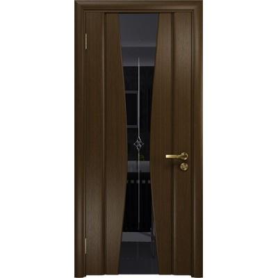 Межкомнатная Дверь DioDoor Соната-2 венге черный триплекс гравировка Звезда