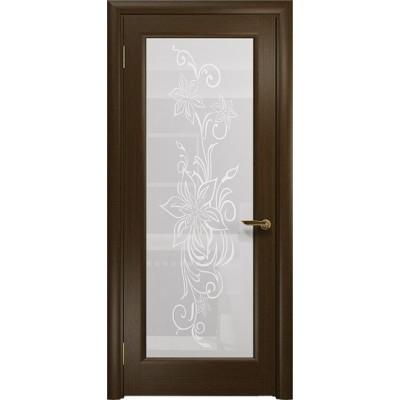 Межкомнатная Дверь DioDoor Миланика-1 венге белое пескоструйное Миланика