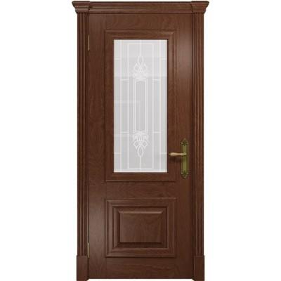 Межкомнатная Дверь DioDoor Кардинал красное дерево белое пескоструйное Кардинал