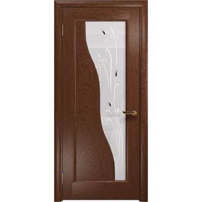Межкомнатная Дверь DioDoor Торино красное дерево белое пескоструйное Рами