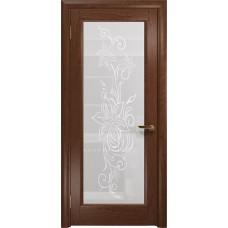 Дверь DioDoor Миланика-1 красное дерево белое пескоструйное Миланика