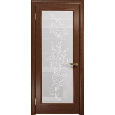Межкомнатная Дверь DioDoor Миланика-1 красное дерево белое пескоструйное Миланика