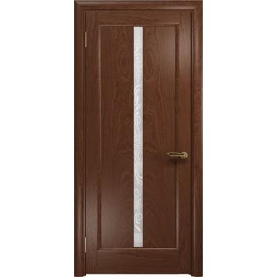 Межкомнатная Дверь DioDoor Миланика-2 красное дерево белое пескоструйное Миланика