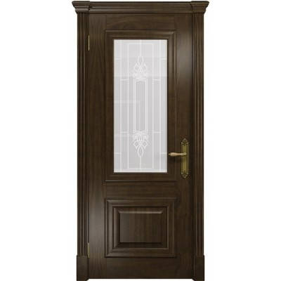 Межкомнатная Дверь DioDoor Кардинал американский орех белое пескоструйное Кардинал