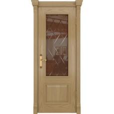 Дверь DioDoor Цезарь-1 дуб светлый стекло