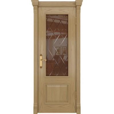 Межкомнатная Дверь DioDoor Цезарь-1 дуб светлый стекло