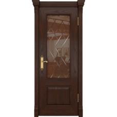 Дверь DioDoor Цезарь-1 дуб коньячный стекло