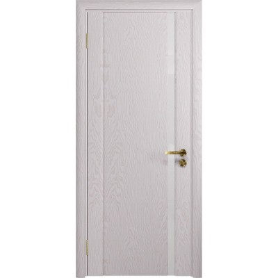 Межкомнатная Дверь DioDoor Триумф-1 ясень белый ярко белое стекло