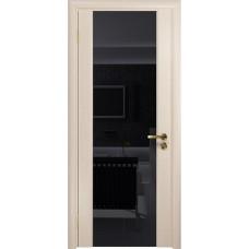Дверь DioDoor Триумф-3 беленый дуб чёрный триплекс