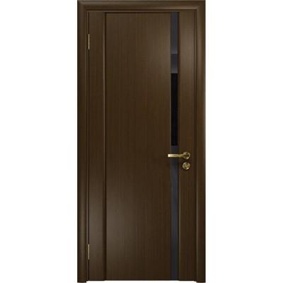 Межкомнатная Дверь DioDoor Триумф-1 венге чёрный триплекс