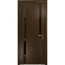 Дверь DioDoor Триумф-2 венге чёрный триплекс