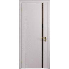 Дверь DioDoor Триумф-1 ясень белый черный триплекс