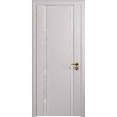 Дверь DioDoor Триумф-2 ясень белый ярко белое стекло