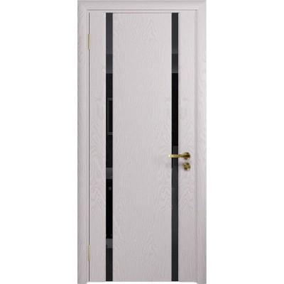 Межкомнатная Дверь DioDoor Триумф-2 ясень белый черный триплекс