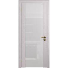Дверь DioDoor Триумф-3 ясень белый ярко белое стекло