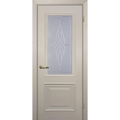 Межкомнатная Дверь МариаМ Классик-1 Бланжевое дерево стекло