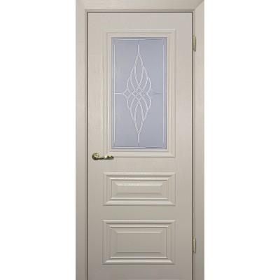 Межкомнатная Дверь МариаМ Классик-2 Бланжевое дерево стекло