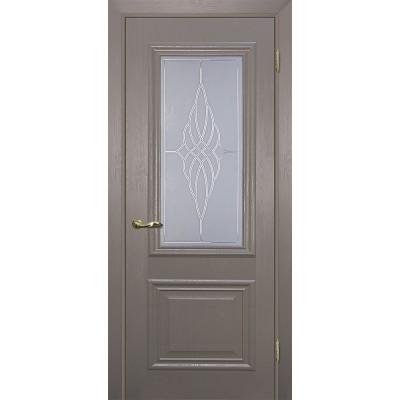 Межкомнатная Дверь МариаМ Классик-1 Каменное дерево стекло